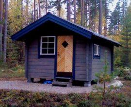 Timrad friggebod 15 kvm från Ollas timmerhus