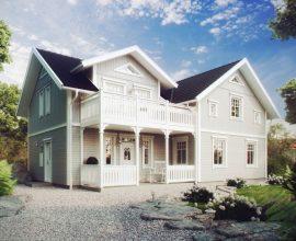 Traditionellt trähus från Eksjöhus