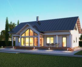 Villa Sommardahl (iso kajastus): Ett effektivt planerad timmerhus för den stora familjen.