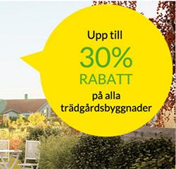 Trädgårdsbyggnader - Kampanj på Skånska Byggvaror